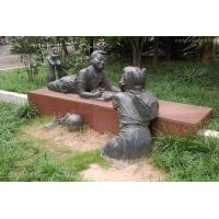 Wholesale Outdoor Decoration Happy Bronze Children Sculpture from china suppliers