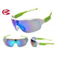 Wholesale Mirror Coating Green UV400 Branded Sport Sunglasses Custom Logo For Womens from china suppliers