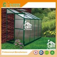 Wholesale 8'x4'x6.7'FT Green Color Single Door Wall Lean-To Series Garden Greenhouse from china suppliers