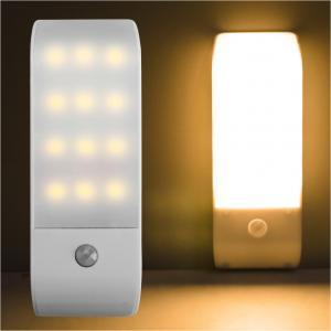Buy cheap PIR Infrared Motion Sensor USB Rechargeable 12 LED Nightlight Light Induction Corridor Closet Wardrobe Night Lamp LED US from wholesalers