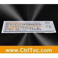 Wholesale 64/65 keys stainless steel keyboard with trackball, waterproof and vandal resistant from china suppliers