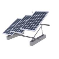 PV Solar Panel Roof Mounting Systems Concrete Base Anodized HDG Surface Treatment