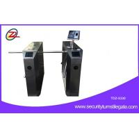 Quality Pedestrian Waist High Tripod Turnstile Gate With Face Recognition , Semi Auto for sale