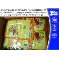 Wholesale Systemic Fungicide Chlorothalonil 18% + Metalaxyl 8% + Mancozeb 54% WP from china suppliers
