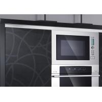 Quality Melamine Black And White Kitchen Cupboards / Cabinets Stainless Steel Commercial for sale
