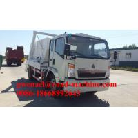 Wholesale 4 x 2 SINOTRUK HOWO Swing Arm Garbage Truck 6CBM/8CBM10CBM /12CBM With Fashion Design from china suppliers