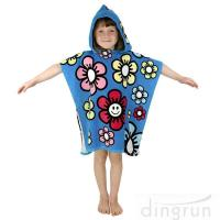 Wholesale Durable Cartoon Hooded Poncho Towels / Soft Touch Personalised Poncho Towel Dryfast from china suppliers