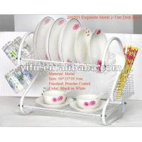 Wholesale 200501 Exquisite Metal 2-Tier Dish Rack from china suppliers