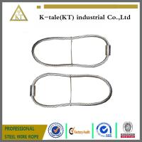 Wholesale cheap rigging wire rope sling assembled with wire rope thimble for buildings from china suppliers
