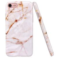 Quality Gold Marble Apple Cell Phone Cases Slim Shockproof Smooth TPU Soft Skin Cover for sale
