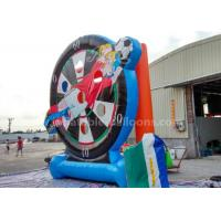 Buy cheap 4m Cartoon Printing Inflatable Soccer Dart Board Football Shooting Game For Outdoor Sports from wholesalers