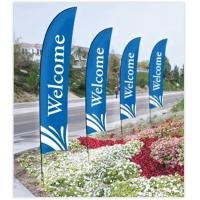 Wholesale Double Sided Beach Flag Banner Sublimation Printing Aluminum / Fiberglass Poles from china suppliers