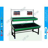 Wholesale 2 Layers Single Sided Metallic Vegetable and Fruit Supermarket Display Shelves from china suppliers