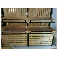 Wholesale SGS Supermarket Wooden Display Rack Single - Sided Electrostatic Spray Surface from china suppliers