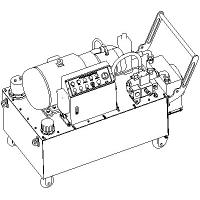 Buy cheap Portable Electric Hydraulic Power Unit , 50 Hz 37 KW Compact Hydraulic Power Units from wholesalers