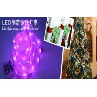 Wholesale Decorative Silk Ribbon Copper Wire Led String Light Customized Length from china suppliers