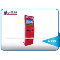 Wholesale Red Color All In One Cash Bill Payment Kiosk Machine Customized Size And Logo from china suppliers
