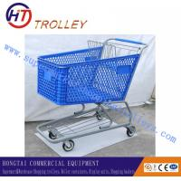 Wholesale 200L Supermarket Plastic Shopping Carts With 5 Inches PU Wheels from china suppliers