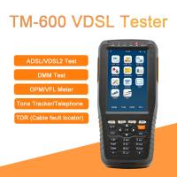 Wholesale TM-600 VDSL Tester Fiber Optic Tools ADSL/VDSL/OPM/ VFL/TDR Tone Tracker all-in-one unit from china suppliers