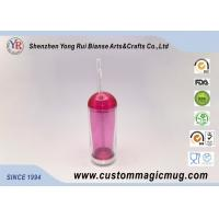 Wholesale Stadium Ice Cold Double Layer Plastic Drinking Cups With Straw And Lid from china suppliers