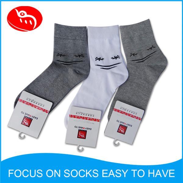 Quality Custom men's Dress socks solid grey Soft cotton socks crew socks for sale