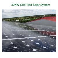 Wholesale Energy 30kw Grid Tied Solar Power System With Solar PV Panels from china suppliers