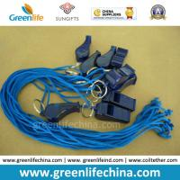 Wholesale Cheap Plastic Whistle with Cord for Promotion Blue Transparent Whistle and Blue Combo from china suppliers