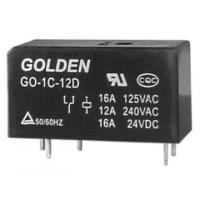 Wholesale Custom Golden Flux Proofed Type DC Power Relay 12V / 24V GO 115F from china suppliers