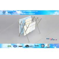 Wholesale Modern Foldable Metal Clothes Rack , Bathroom Towel Rack Four Layer with Stainless Steel from china suppliers