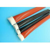 Wholesale 4KV Silicone Resin Coated Braided Fiberglass Sleeve / Expando Sleeving 0.5mm ~ 50.0mm from china suppliers