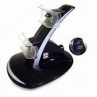 Buy cheap Charger Stand for Sony PSX3 Wireless Gamepad, with Blue LED Light, Can Charge 2 from wholesalers