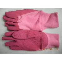 Quality Noble Pink color Cotton Lined warm womens Garden work Gloves, knitting wrist for sale