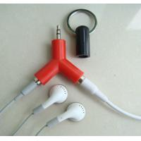 Wholesale 2-way Headphone Splitter Keychain, Connect Up to 2 Headphone,Earphone HUB, Sharing Music from china suppliers