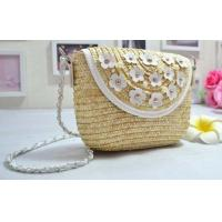 Wholesale Women Kid Coin Purse, Straw Shoulder Beach Bags, Small Change Floral Fashion Bags from china suppliers