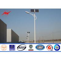 Wholesale Q235 Hot Dip Galvanized Street Light Poles 12m With Cross Arm 1.8 Safety Factor from china suppliers