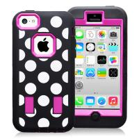Wholesale Hard Plastic & Silicon Case Dot Combo Case For Iphone 5c Hybride Case Cover from china suppliers