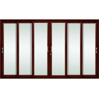 Wholesale Elegant design wood grain color aluminum sliding glass doors with insulating glass from china suppliers