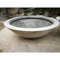 Wholesale Hot sale factory sales durable round outdoor garden fiberglass cement flower pot from china suppliers