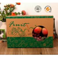 Wholesale E-Flute Corrugated Cardboard Food Packaging Boxes , Fruit Gift Packaging Box from china suppliers