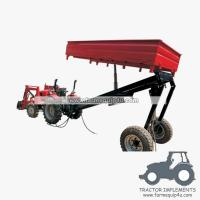 Wholesale 2wheels tipper 3way hydraulic dump trailer small farm trailer from china suppliers