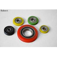 Wholesale Heavy Duty Small Polyurethane Roller Wheels With Aluminum Center Assemble Ball Bearing from china suppliers