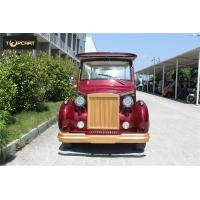 Buy cheap Red Color Custom Aluminum Chassis Classic Golf Cart Shuttle Bus With Roof from wholesalers
