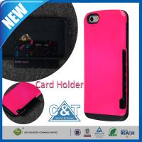 Wholesale Red Diverse and Assorted PC + TPU iPhone 6 Protective Cases with Credit Card Holder from china suppliers