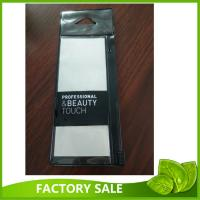 Wholesale Flat Black Makeup Brush Packaging Pvc Zipper Bag With Hanging Hole And Card from china suppliers