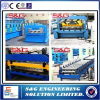 Wholesale Automatic Floor Deck Tile Making Machine , 5 Ton Capacity Color Steel Roll Forming Machine from china suppliers