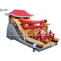 Wholesale Giant Samurai Temple Inflatable Castles With Slide Commercial Grade from china suppliers