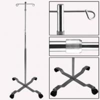 Quality Stainless Steel I.V. Stand For Hospital Transfusion With 4 Hooks for sale