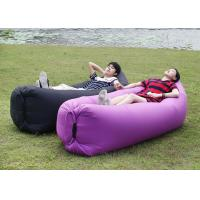 Buy cheap Polyester Two Open Mouth Sleeping Air Bags , Lightweight Purple Hangout Laybag from wholesalers