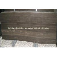 Quality Brown Wooden Veins Marble Slab(Vein Cut) for sale