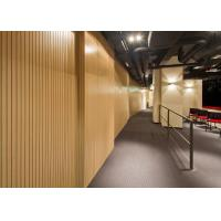 Quality MDF Wooden Grooved Acoustic Panel For Church , Meeting Rooms for sale